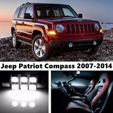 9x LED Xenon White Light Interior Package Kit for Jeep Patriot Compass 2007-2014
