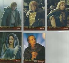 "Lord Of The Rings Two Towers Hobby Japan ""Character"" 5 Card Non-Foil Chase Set"