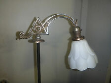 "Spectacular Antique Art Deco Floor Lamp - 55"" tall - Glass Shade"