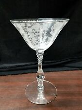 VINTAGE CAMBRIDGE ROSE POINT ETCHED CRYSTAL STEM SHERBET CHAMPAGNE CORDIAL