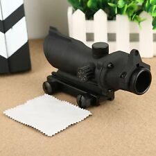 Tactical 1x32 Red /Green Dot Laser Sight Rifle Scope for 20mm Weaver Rail Mount