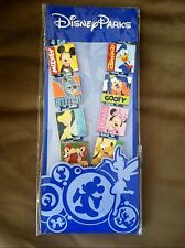 Disney Parks Exclusive CHIP DALE MICKEY STITCH GOOFY 8 PINS AND LANYARD SET NEW
