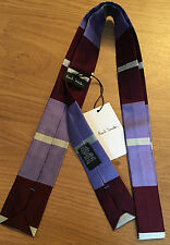 Paul Smith Narrow Tie MAINLINE COLLECTION MULTISTRIPE 5cm Square End Narrow Tie
