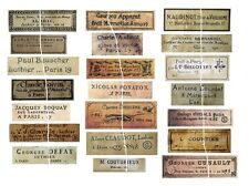 V122 Old Vintage Antique Violin Fiddle Maker Set of 21 Labels NICE!