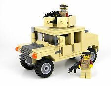 Tan Army Humvee 2 figures custom military set made with real LEGO® bricks