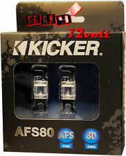 Kicker AFS80  80 Amp 2-Pack Platinum-Plated AFS Fuses with Color Coded Casing