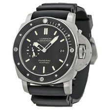 Panerai Luminar Submersible 1950 Amagnetic Black Dial Black Rubber Mens Watch