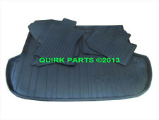 2014 Subaru Forester BLACK All Weather Floor Mats & Rear Cargo Tray OEM NEW
