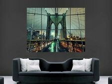 BROOKLYN BRIDGE  NEW YORK ART  LARGE WALL  POSTER PICTURE