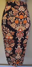 New Vivienne Westwood Dinasty 38 Vintage Style Baroque Floral Pencil Skirt £305
