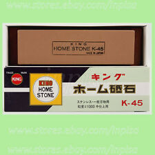 WHETSTONE 2 PCS 1000 GRIT JAPANESE KING SHARPENING WHETSTONE WITH BASE K-45