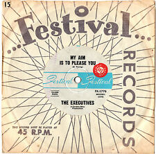 """THE EXECUTIVES - MY AIM IS TO PLEASE YOU - RARE PROMO 7"""" 45 VINYL RECORD 1967"""