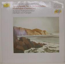"""MENDELSSOHN SYMPHONIE NR.3 SCHOTTISCHE HEBRIDEN-OUVERTÜRE KARAJAN 12"""" LP (f89)"""