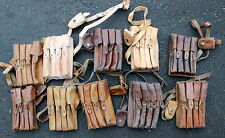SERBIA SERBIAN ARMY LEATHER MAGAZINE AMMO SHOULDER POUCH BAG TYPE 1