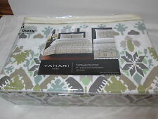 Tahari Home Moroccan Full/Queen Duvet & Shams Set - Green, Teal, Brown & White