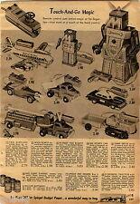 1956 ADVERTISEMENT Robot Robert Walk  Remote Dump Truck MG Car Schoenhut Piano