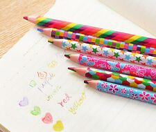 3pcs 4 in 1 Colors Pencils Student School Art Colored Pencil Writing Painting