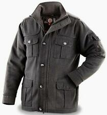 Sharp Military Style Jacket - Poly / Wool Blend Men Size XL in CHarcoal