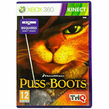 Puss in Boots (Xbox 360, Kinect) Childrens Kids Boys Action Game Complete PAL