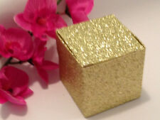 50 Gold Champagne Glitter Favor Boxes Wedding Party Supplies 2X2X2 Box
