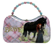 Disney Pixar Movie Brave Merida & Angus Girls Scoop Purse Carry All Tin Tote NEW
