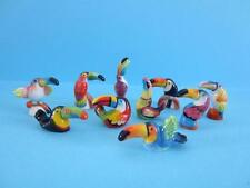 NEW MINIATURE PORCELAIN TOUCAN COLLECTION SET *THEY ARE AMAZING* MINT