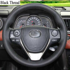 New DIY Sewing-on PU Leather Steering Wheel Cover Exact Fit For Toyota RAV4 2013