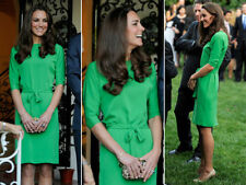 DVF maja vestido verde us 6 talla 38 m Duchesse Cambridge dress blogueros sold out Kate