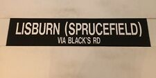 "Belfast Irish Ireland Bus Blind 36""- Lisburn Spucefield Via Black's Road"