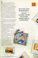 Publicité advertising 1993 Film Kodak Elite