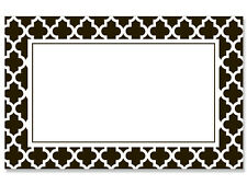 50ct. Black & White Tiles Border Blank Florist Enclosure Cards Small Tags