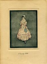 AUTHENTIC VINTAGE JENNIE HARBOUR LITHOGRAPH PRINT C. 1917 - 1927 (15)