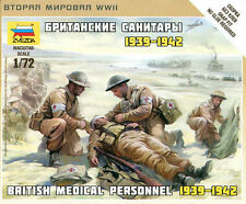 Zvezda 1/72 6228 WWII British Medical Personnal 1939-1942 (4 Figures)
