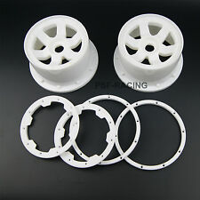 2 pcs of rear white Wheel and beadlock for Rovan King Motor HPI baja 5b SS