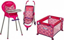 Baby Doll Playset Graco Room Full Of Fun Girls Play High Chair Playpen Stroller
