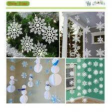 New White Snowflake Ornaments Christmas XMAS Year Wedding Party Decorations 6L