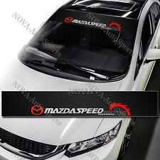 """MAZDASPEED Windshield Carbon Fiber Vinyl Banner Decal Sticker 4 Mazda Speed 53"""""""