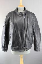 Akito rapide negro cuero Biker Jacket de Superdry con parte posterior extraíble Protector, Talla 14