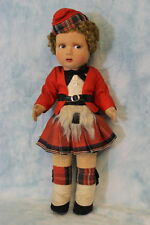 "c.1930 14"" English Cloth Doll Alpha Farnell Scottich lad in Red Scottish Costume"