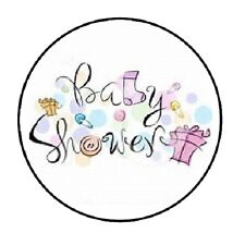 "48 Baby Shower party!!!!  ENVELOPE SEALS LABELS STICKERS 1.2"" ROUND"