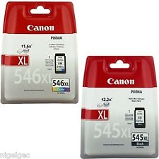 CANON CL546XL PG545XL BLACK AND COLOR IP2850 MG2450 MG2550 CL-546XL PG-545XL