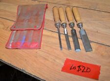 Vintage chisel set #605 Swedish pattern forged steel made in Japan collectible