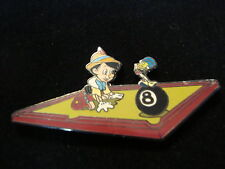 Pinocchio and Jiminy Cricket on Pool Table with 8 Ball Disney Pin