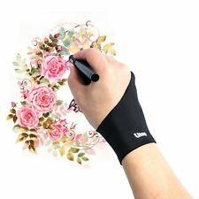 Litup Artist Glove with Two Fingers for Wacom Graphics Tablet Monitor Pen Light