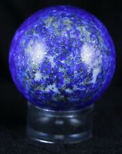 NATURAL BLUE LAPIS LAZULI SPHERE BALL PYRITE CRYSTAL QUARTZ  40MM FREE STAND