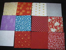 CREATIVE Handmade Paper Pack 12 Sheets 6x6 NEW CHRISTMAS Colours 12 Designs XMAS