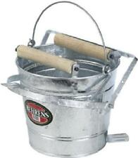 Behrens 12 QT Mop Bucket with Wringer, Galvanized Steel, Double Rollers, 412W