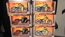 WHOLESALE LOT 6 ARLEN NESS CHOPPER MOTORCYCLE DIECAST biker 1:18 West coast Ca.