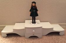 White display doll stand tiered riser shelf, American Girl Dolls Many Lands NRFB