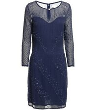 BNWT Reiss Antonella Beaded Embellished Midnight Evening Occasion Dress UK 8
